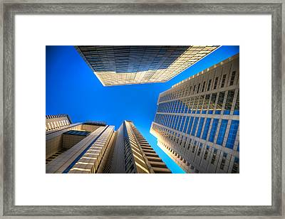 Low Angle View Of Building Framed Print