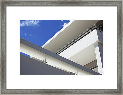 Low Angle View Of Modern Apartment Framed Print by Clerkenwell