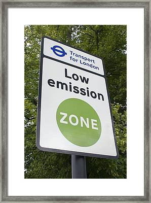 Low Emission Zone Sign In Essex, Uk. Framed Print by Mark Williamson