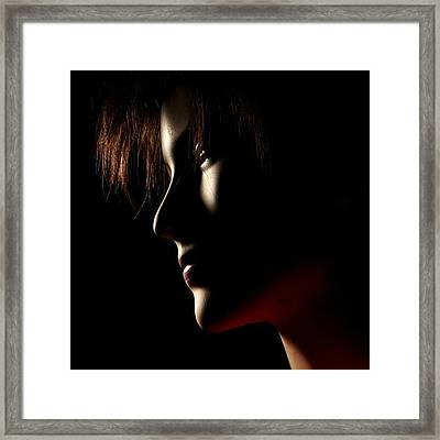 Low Light #portrait Framed Print by Tommy Tjahjono