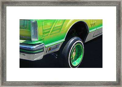 Low Rider Lincoln Framed Print by Chuck Re