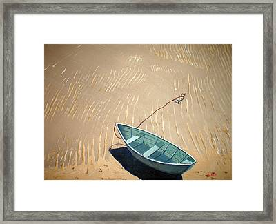 Low Tide Framed Print by Anthony Ross