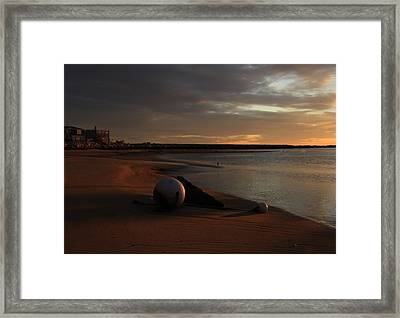 Low Tide At Dawn  Framed Print