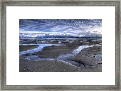 Framed Print featuring the photograph Low Tide by Michele Cornelius