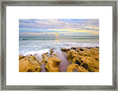 Low Tide Sunrise  Framed Print by Tracy Welker