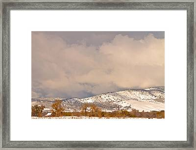 Low Winter Storm Clouds Colorado Rocky Mountain Foothills 4 Framed Print