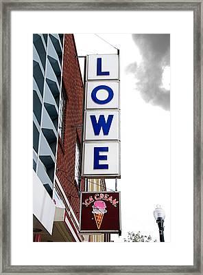 Lowe Drug Store Sign Color Framed Print by Andee Design