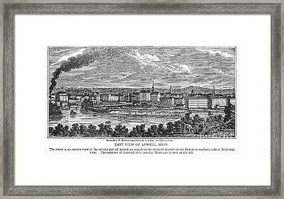 Lowell: Factories, 1844 Framed Print by Granger