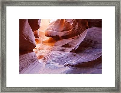 Lower Antelope Canon Framed Print by Daniel Osterkamp