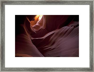 Lower Antelope Eleven Am On The Dot Framed Print by Gregory Scott