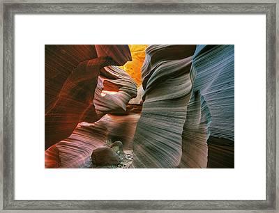 Lower Antelope Slot Canyon Framed Print by Dean Pennala