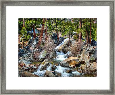 Lower Eagle Falls Emerald Bay Lake Tahoe Framed Print by Scott McGuire