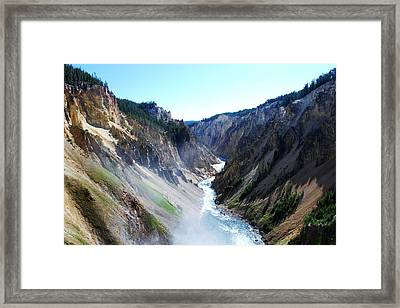 Lower Falls - Yellowstone Framed Print