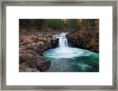 Lower Falls At Sunset Framed Print