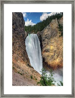 Lower Falls, Grand Canyon Of Yellowstone Framed Print by Jill Clardy