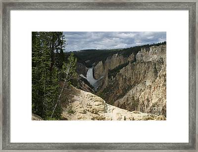 Framed Print featuring the photograph Lower Falls Of Yellowstone by Living Color Photography Lorraine Lynch