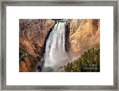 Lower Falls Of Yellowstone Framed Print