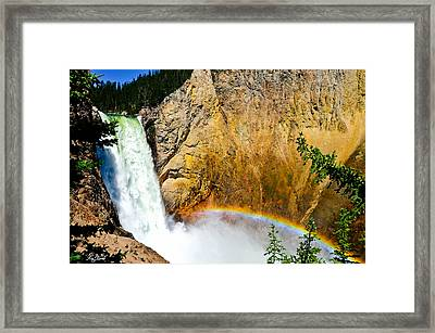 Lower Falls Rainbow Le Framed Print