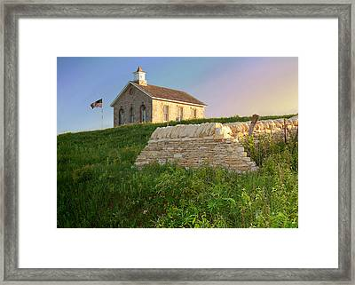 Framed Print featuring the photograph Lower Fox Creek School by Rod Seel