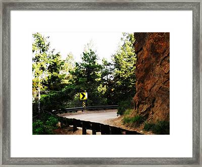 Framed Print featuring the photograph Lower Gold Camp Road Too by Clarice  Lakota