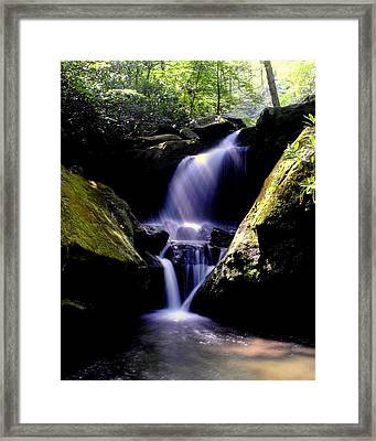 Lower Grotto Falls Framed Print by Frozen in Time Fine Art Photography