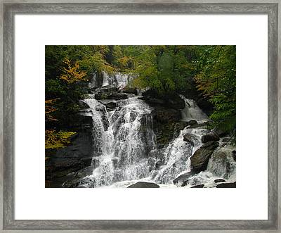 Lower Kaaterskill Falls Ny U S A  1867 Framed Print by J D  Whaley