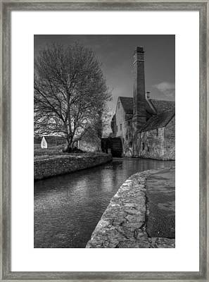 Lower Slaughter Mill Framed Print by Nigel Jones