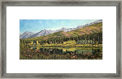 Lower Summit Lake Framed Print by Kurt Jacobson