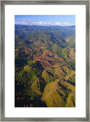 Lowland Tropical Rainforest Cleared Framed Print