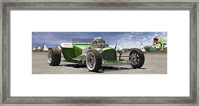 Lowrider At Painted Desert 2 Framed Print by Mike McGlothlen