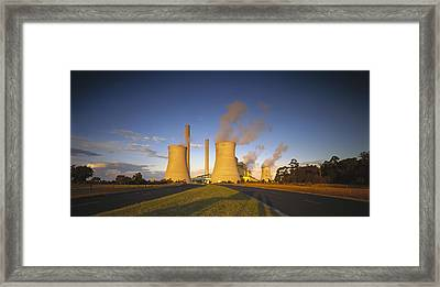 Loy Yang Power Station, Coal Burning Framed Print by Jean-Marc La Roque