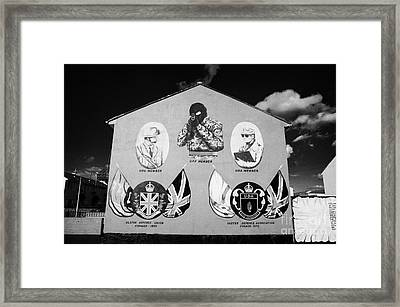Loyalist Protestant Mural Uda Northern Ireland Framed Print by Joe Fox