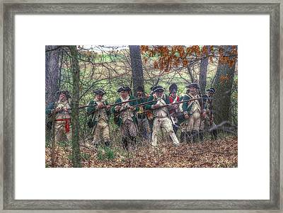 Loyalist Skirmishers Revolutionary War   Framed Print by Randy Steele