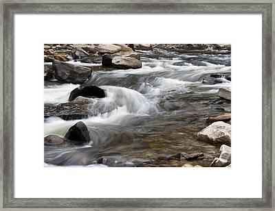 Loyalsock Creek Gentle Rapids Framed Print