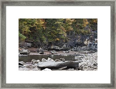 Loyalsock Creek In The Fall Framed Print
