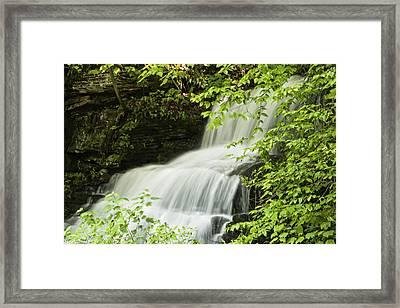 Loyalsock Waterfall Framed Print