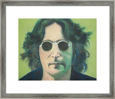 Lsd John Lennon Framed Print by Fernando A Hernandez