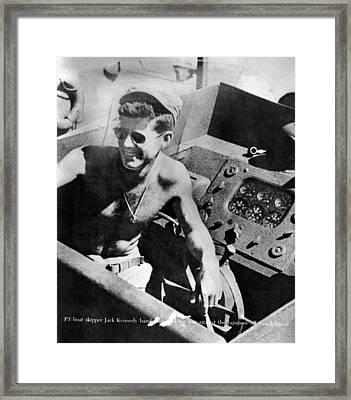 Lt. John Kennedy In The Pacific Framed Print by Everett