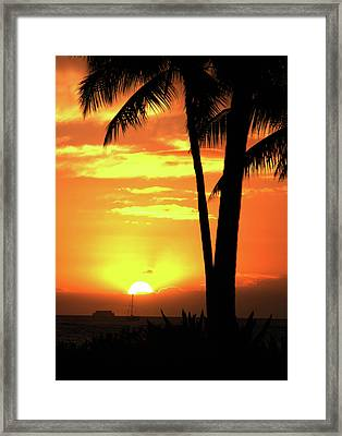 Luau Sunset Framed Print