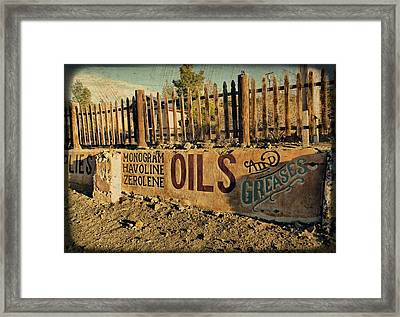 Lubed Up Framed Print