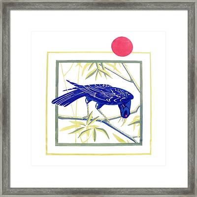 Lubenham Crow Framed Print by Al Cazu Alan Williamson