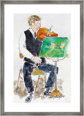 Lucas On First Violin Framed Print