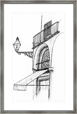 Lucca Cafe Framed Print by Elizabeth Thorstenson