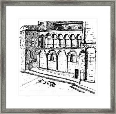 Lucca Framed Print by Elizabeth Thorstenson