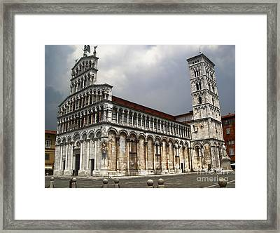 Lucca Italy - San Michele In Foro Framed Print by Gregory Dyer