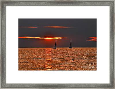 Red Maritime Dream Framed Print