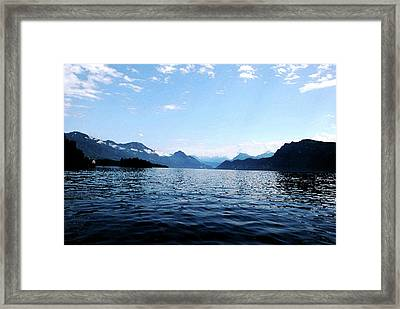 Framed Print featuring the photograph Lucerne Lake by Pravine Chester
