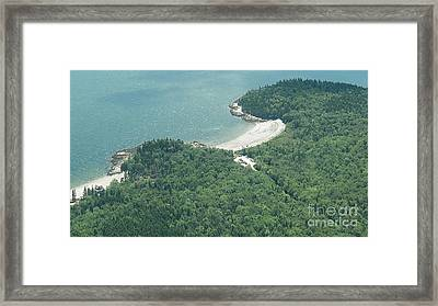 Lucia Beach From The Air Framed Print by L Jaye Bell
