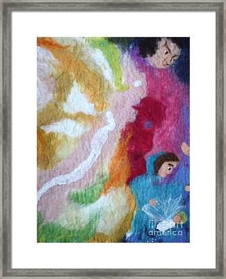 Lucifer And Ahriman At The Birth Of Christ Framed Print by Nicole Besack