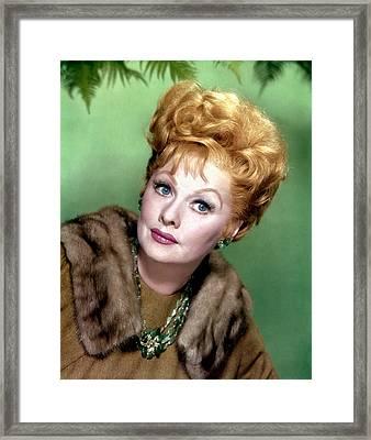 Lucille Ball, C. 1960s Framed Print by Everett